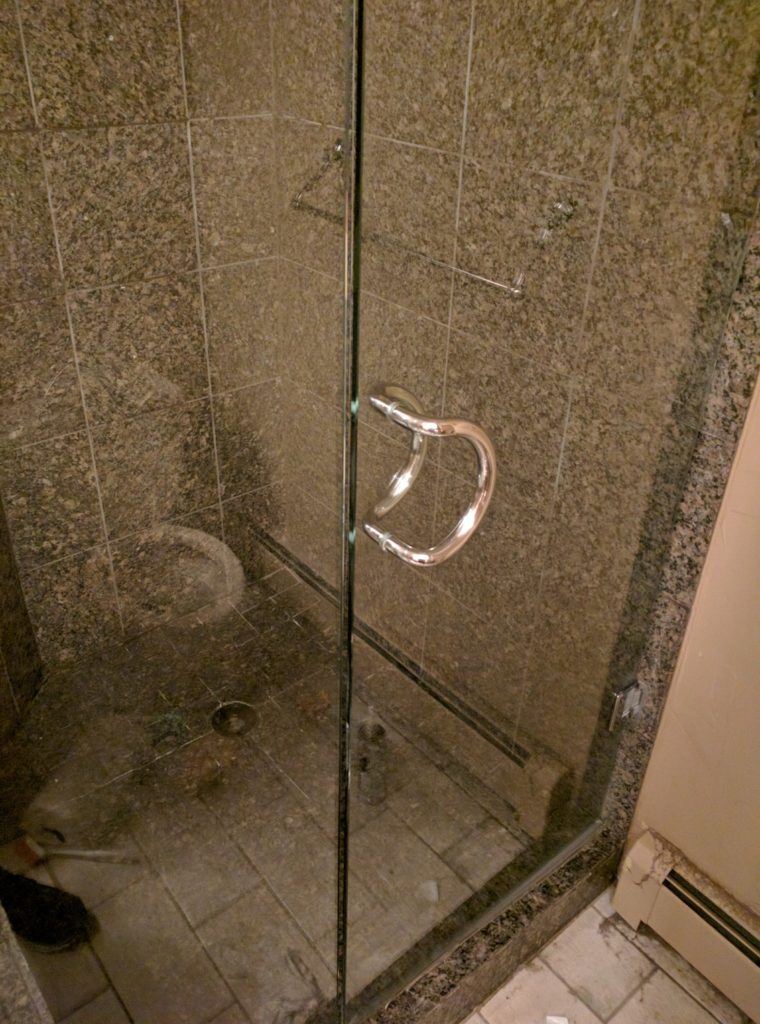 how to clean glass shower doors - how to clean shower doors - after image 1