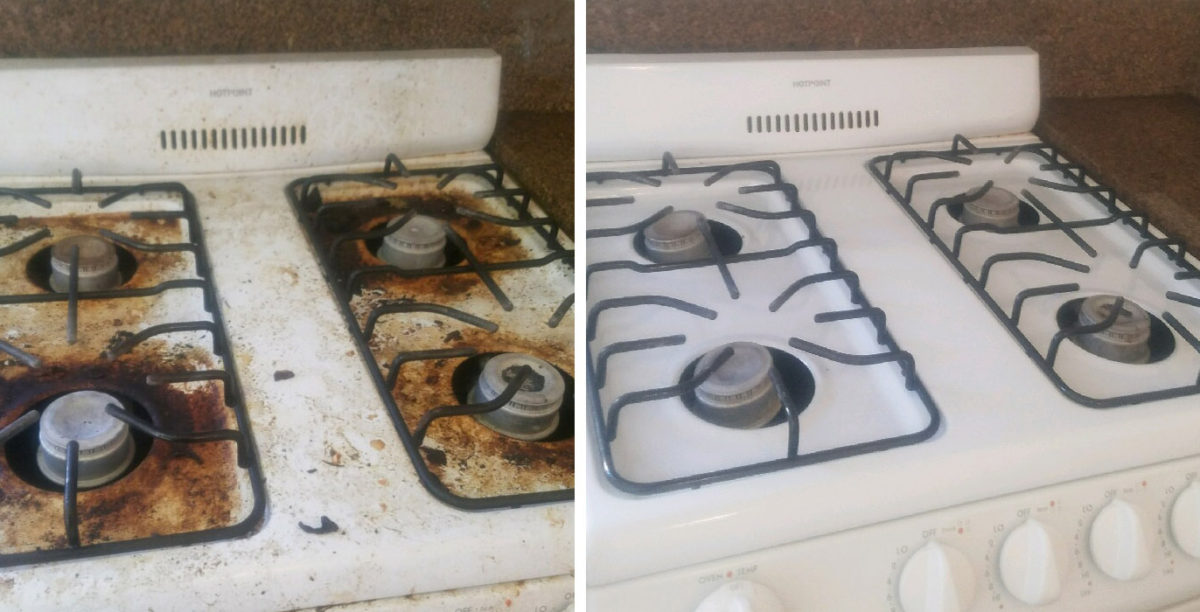 Bon Stovetop Before And After, Bar Keepers Friend