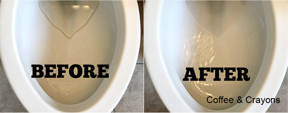 Toilet Before and After Bar Keepers Friend