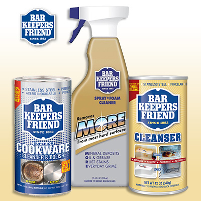 Bar Keepers Friend Tried and True cleaning products
