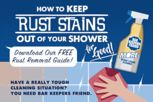 How to clean rust from the shower button