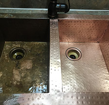 Superbe Copper Sink Before U0026 After Cleaning