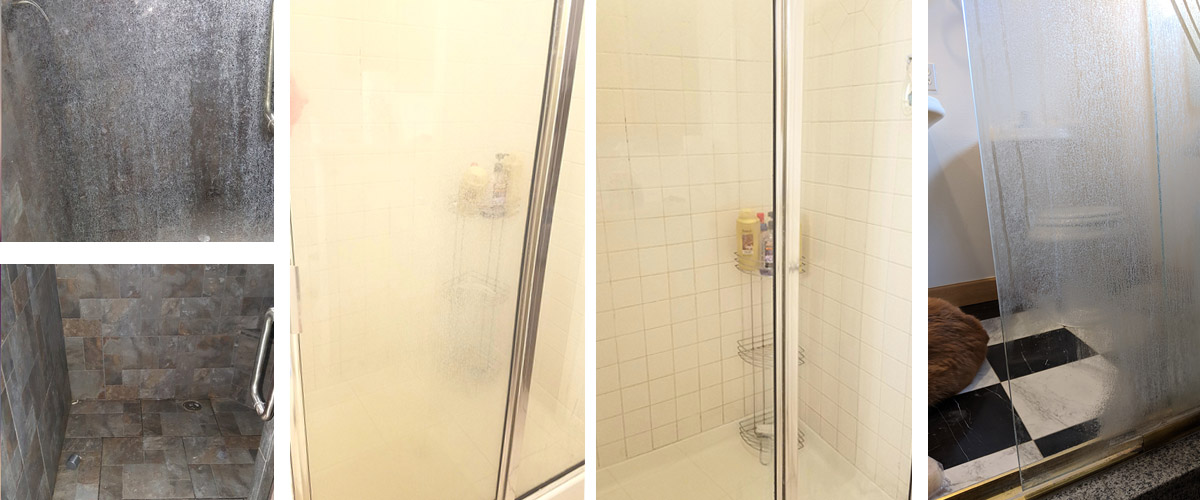 How to Clean a Hard Water Stained Shower Door | Bar Keepers Friend