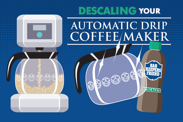 How to Descale a Coffee Maker button