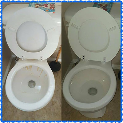 Bar Keepers Friend cleans rust stains in toilets