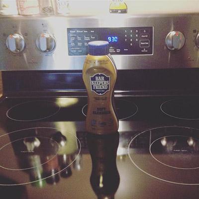 Sohan_Letsgo Stovetop cleaned with Bar Keepers Friend | BKFBeforeAndAfter