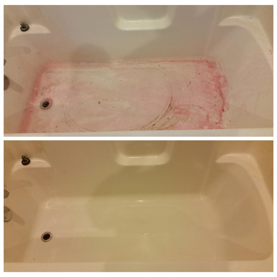 #tips #tuesday If You Like Dying Your Hair Red And Purple But Dread Trying  To Clean The Bathtub Afterwards, No Worries #barkeepersfriend Will Remove  The ...
