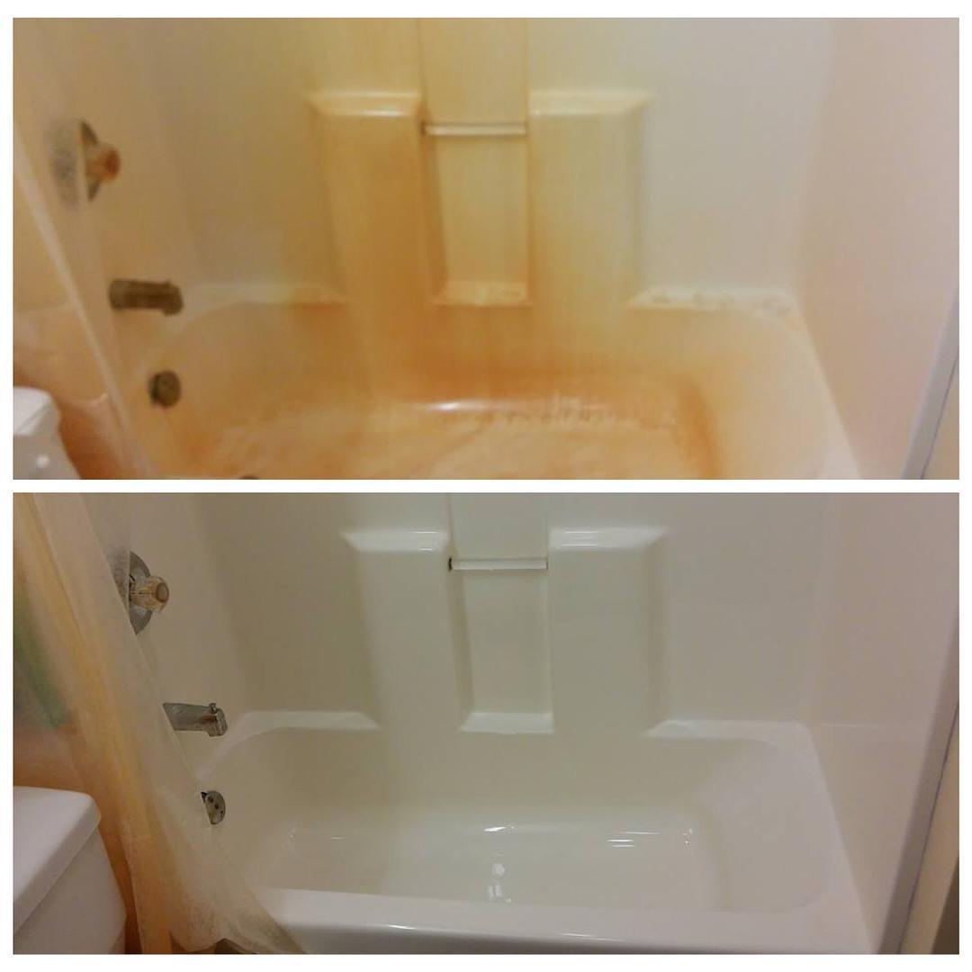 #clean #cleaning #household #products * * * #BKFfeatured #BKFbeforeandafter  #BKFbathroom #BKFshowertub #BKFcleanser #BKFsoftcleanser #BKFrust