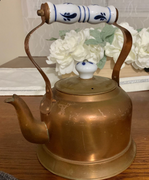 how to clean a tea kettle - before pic