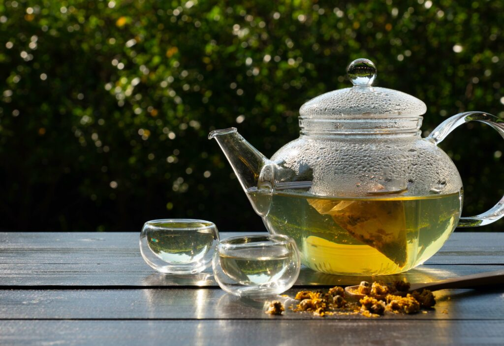 how to clean a tea kettle - glass tea kettle