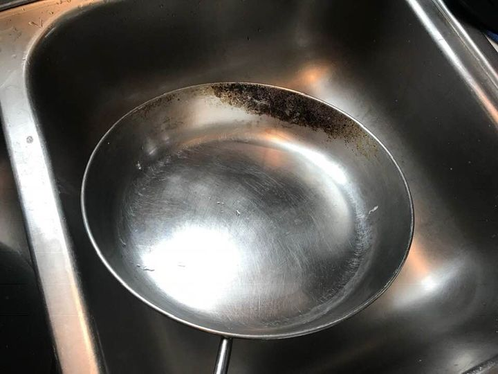 How to Clean a Scorched Pan - How to Clean a Scorched Pan - how to clean a burnt pan - Image 2 - Pan Before