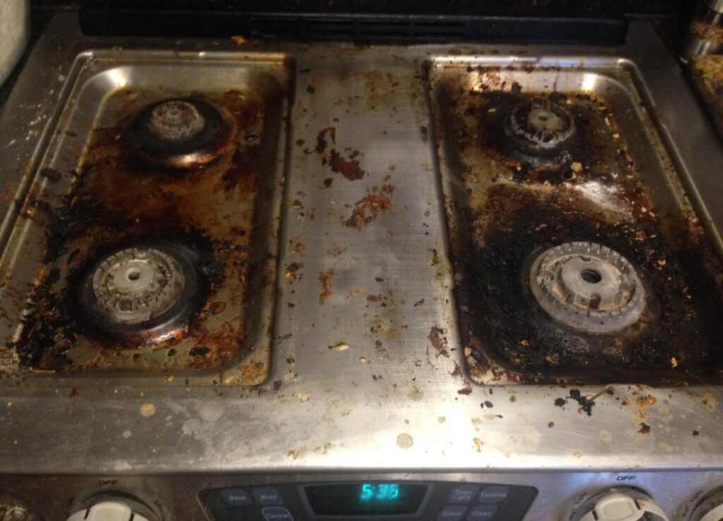 BKF Fan Daniel Smith - Before - How to Clean a Stovetop